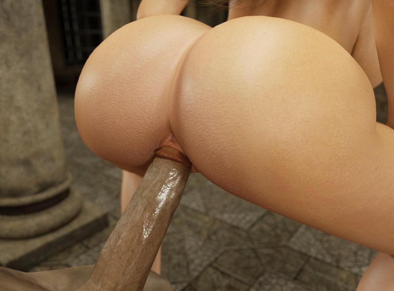 Big booty 3d girl fucked porno clip