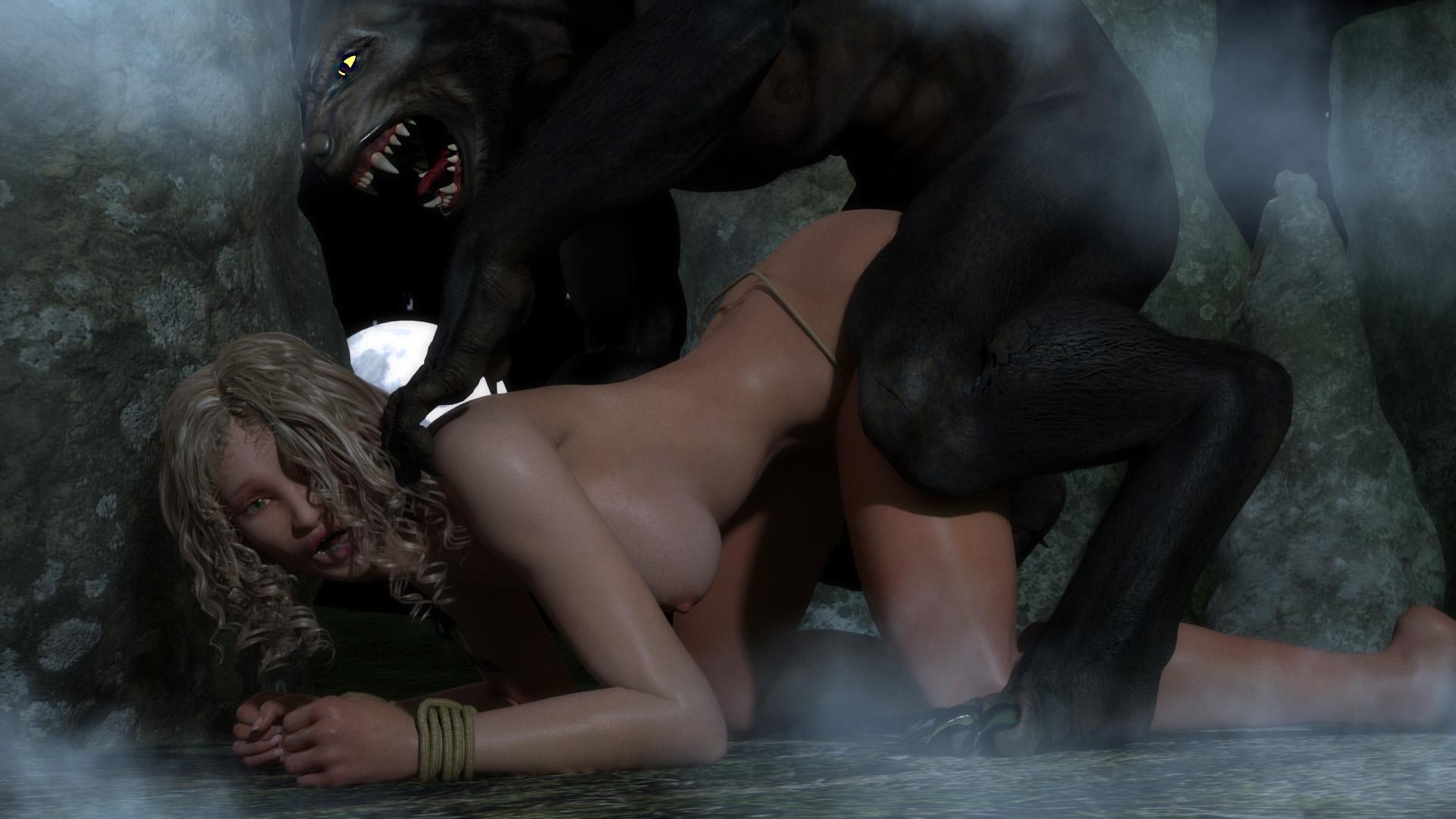 Монстры трахают девушку смотреть